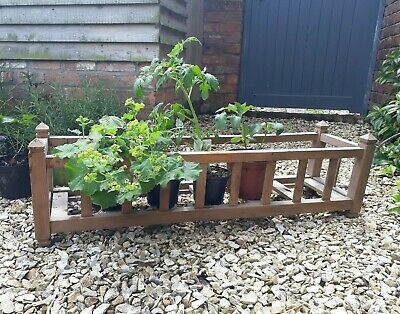 french wood vintage window box plant pot holder jardiniere
