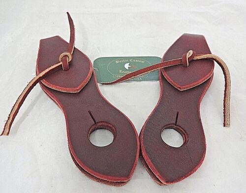 Pair Latigo Leather Slobber Straps Ties Berlin Custom Horse Tack Mecate Reins