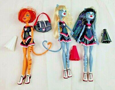 Monster High Cheerleading Dolls Toralei & Werecat Twins  Accessories