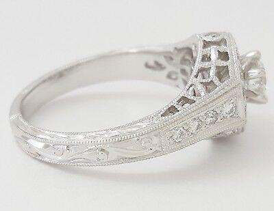 0.75 ct 18K White Gold Round Diamond Halo Engagement Ring GIA Rtl $2,700 4
