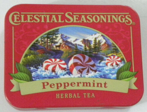 Celestial Seasonings Tea Tin 2016 Peppermint Herbal Tea
