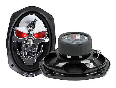 "2) NEW BOSS SKULL SK694 6x9"" 700W 4 Way Car Audio Full Range Speakers 6""x9"" PAIR"
