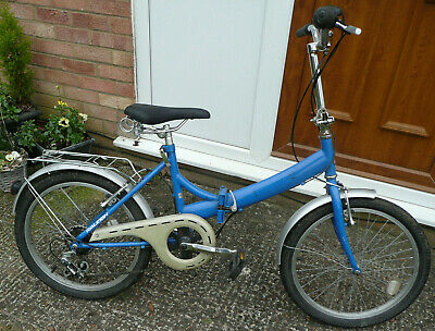 Used Folding Raleigh Shopper 20 Inch Wheels, 6 Gears, Ready To Ride