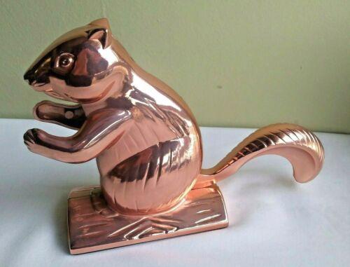"DCI Copper Colored 5.5"" SPIRITED SQUIRREL NUTCRACKER Aluminum NIB"
