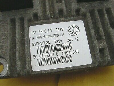 Fiat Punto ECU IAW 5SF8.NS D419 Ecm Computer 51918335 Ignition Module