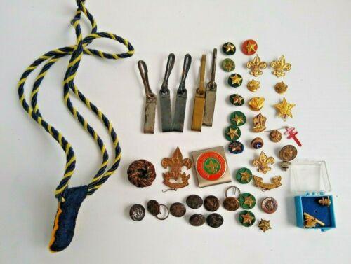 Mix Lot of Assorted Vintage Boy Scout Uniform Pins Miscellaneous Lot