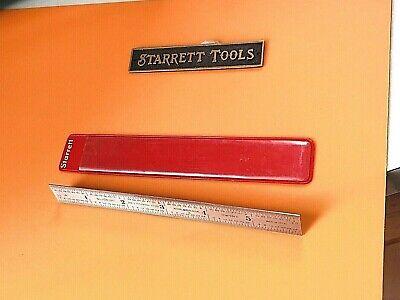 Starrett No. 304sre-6 6 Long Semi-flexible Steel Rule Winch Graduations. Usa.