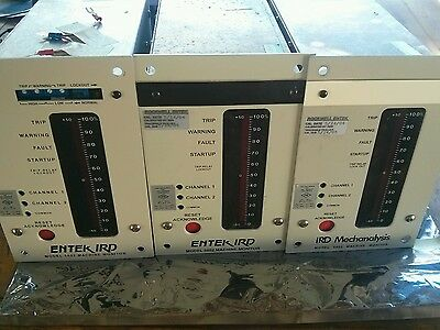 Lot Of 3 Rockwell Entek Ird Mechanalysis Model 5802 Machine Monitor Vibration