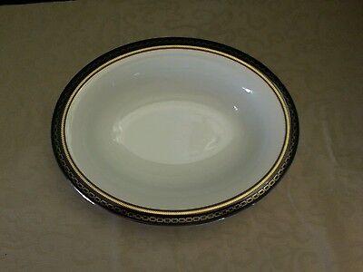 Vera Wang WITH LOVE NOIR vegetable serving bowl black white gold platinum chain