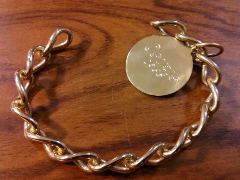 Rare 1966 Krewe of Osiris Bracelet New Orleans Mardi Gras Vintage Gold Tone