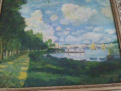 Original art Impressionist oil painting artwork landscape  Alexander Lee 1925
