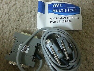 AVE VSI-PRO Video Text Inserter Cash Register CABLE  MICROMAX TRIPORT 108-006
