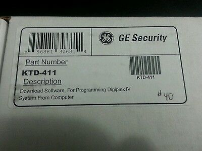 GE SECURITY KALATEL KTD-411 Software for programming Digiplex 4 new in box Ge Security Kalatel