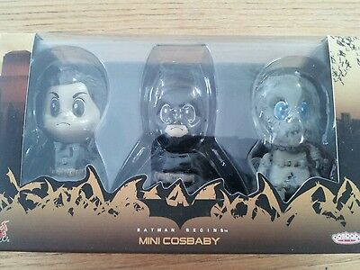Hot Toys Mini Cosbaby Dark Knight Figure Set Of 3 Batman  Bruce Wayne  Scarecrow