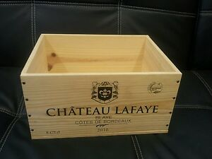 6 x original french wooden wine crates boxes small planter for Small wine crates