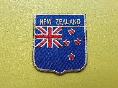 NEW ZEALAND COUNTRY SHIELD FLAG PATCH (SEW or IRON ON)