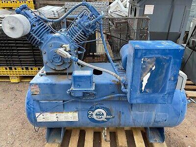 Quincy Qrdt5st00008 2 Cylinder Air Compressor 5 Hp Motor Huge Tank
