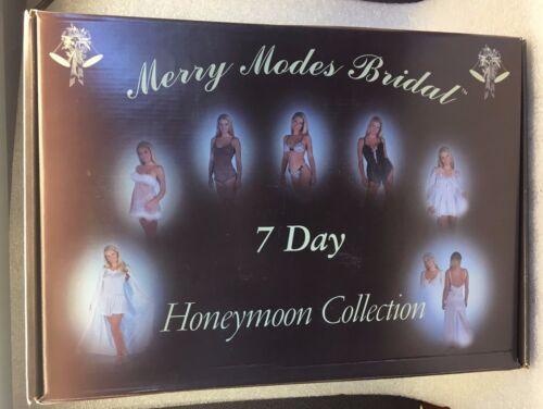 Honeymoon  Collection 7 Day Honeymoon  7 piece  Wedding  Lingerie  SMALL