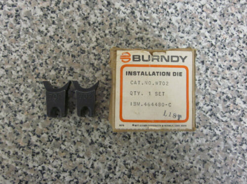New Burndy W702 Index 702 W-Die MD6 Hydraulic Crimper Crimping Dies Die Set