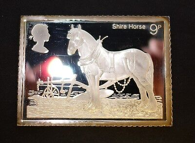 (Wi1) Silver Ingot 1978 Shire Horses 9p Stamp