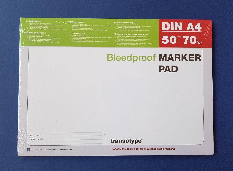 Copic Marker Layoutblock DIN A4 Layoutpapier  transotype MARKER PAD 50 Blatt
