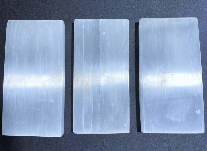 Wholesale Bulk Lot 3 Pack Of Selenite Bars Plates Large Crystal Charging Thick