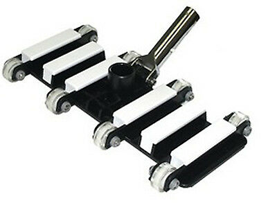 Heavy Duty Flexible Pool Vacuum Vac Head w/ Metal Handle & Ball Bearing Wheels