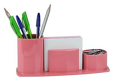 Acrimet Millennium Desk Organizer Pencil Paper Clip Cup Holder Wpaper Solidpink