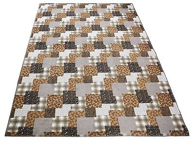- Nature Inspired Area Rug & Runner Slip Resistant Rubber Exotic Patchwork Design