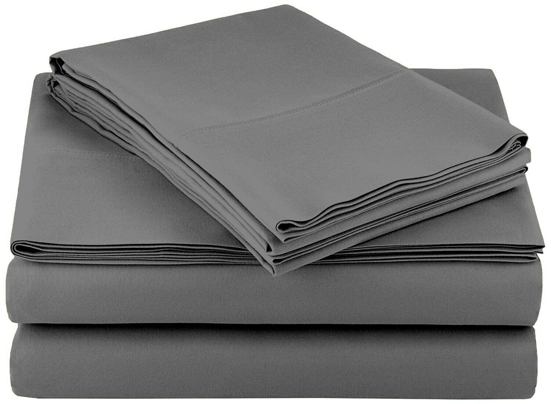 Bed Sheet Set 4 Piece Egyptian Comfort Ultra Soft Deep Pocke