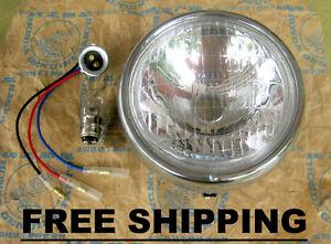 Honda Cub C50 C65 C70 C70KA C90 Passport Deluxe Headlight 6V 25/25W  FREE SHIP.