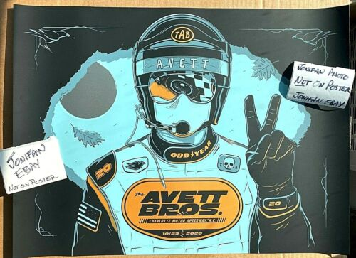 THE AVETT BROTHERS DRIVE IN II Charlotte NC 2020 AE HATCH FOIL POSTER S/N #/12