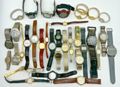Lot of 35 SHARP Watches - Steel/Leather, Modern, Quartz, Men