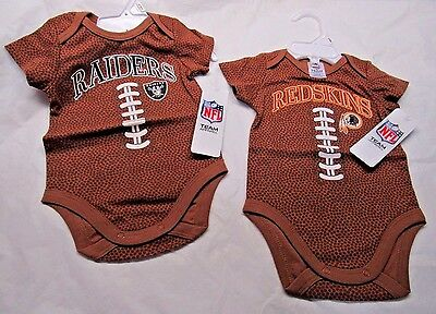 NFL Football Image Bodysuit by Gerber Childrenswear -Select- Size AND Team Below