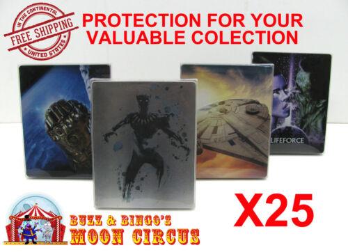 25x 4K UHD STEELBOOK - NO J-CARD SIZE - CLEAR PROTECTIVE BOX PROTECTOR SLEEVE