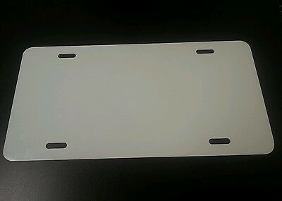 Lot Of 25 White Aluminum License Plate Tag Blanks .025