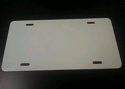 Box Of 50 White Aluminum License Plate Tag Blanks .025