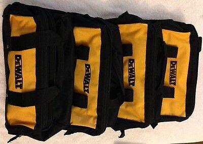"""4 New Dewalt N037466 Heavy Duty Ballistic Nylon 13"""" Tool Bag"""
