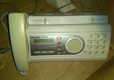 Sharp Model Ux-p100 White Plain Paper Phone Copy Fax Machine W Extras Works
