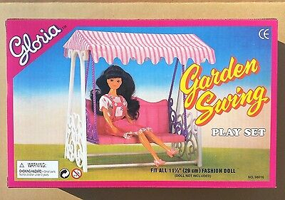 GLORIA DOLL HOUSE FURNITURE SIZE Garden Swing PLAY SET For Dolls (98016)