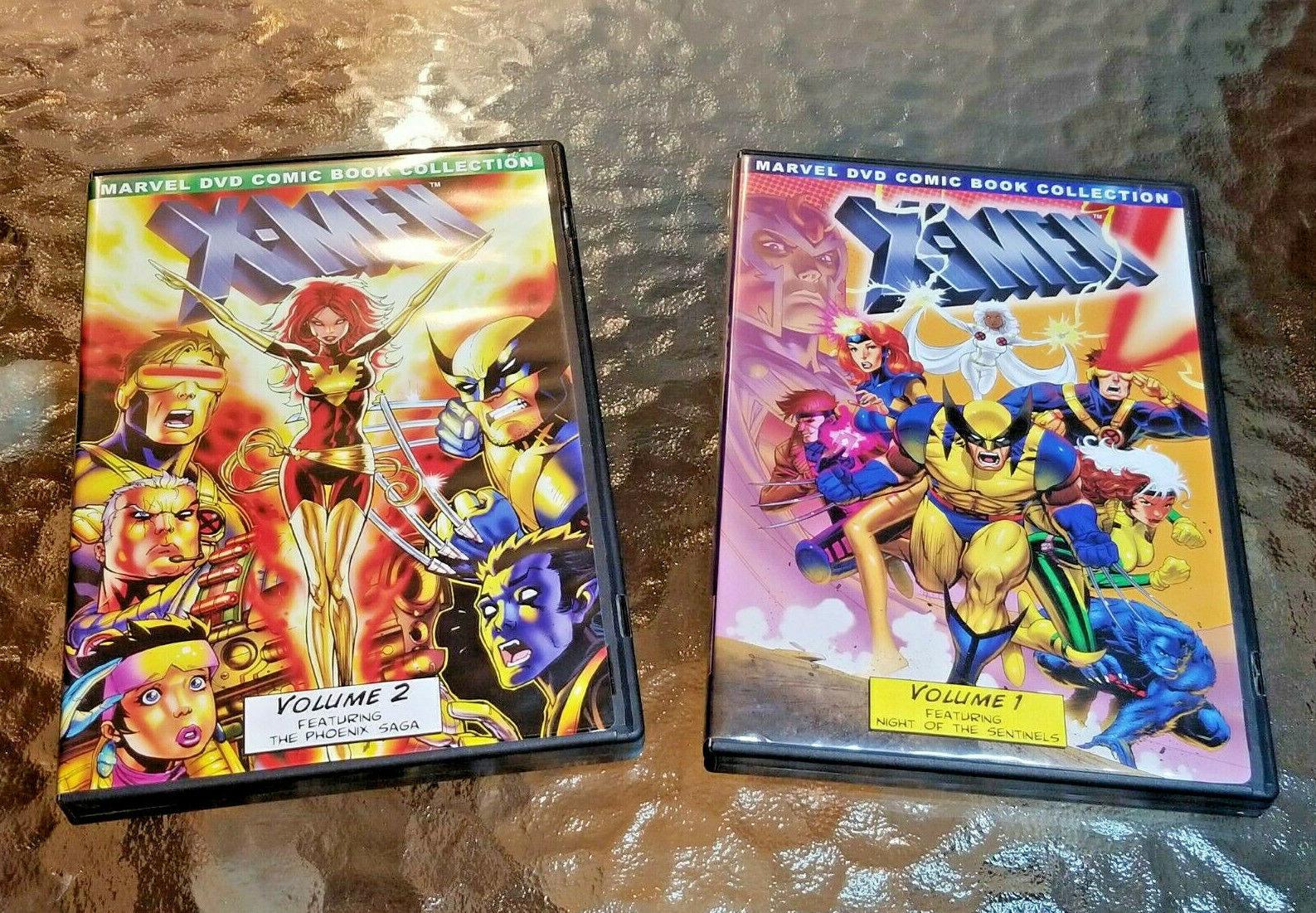 Marvel DVD s Collection X-MEN Animated Series Cartoon VoL 1 2 Set s X MEN  - $55.00