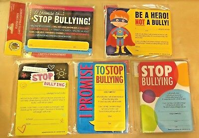 Anti Bully Teacher Curriculum Material No Bullying Pledge Cards 25 Per Pack