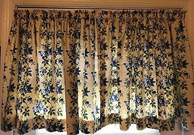 Longaberger Rose Trellis Cafe Curtains 2 Panels