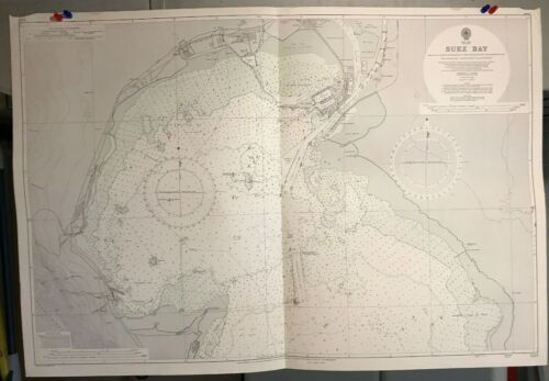Red Sea, Suez Bay, Suez Canal Navigational Chart / Hydrographic Map # 3214 Egypt