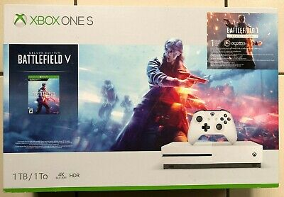BRAND NEW SEALED! Xbox One S 1TB Console - Battlefield V Bundle - FAST SHIPPING