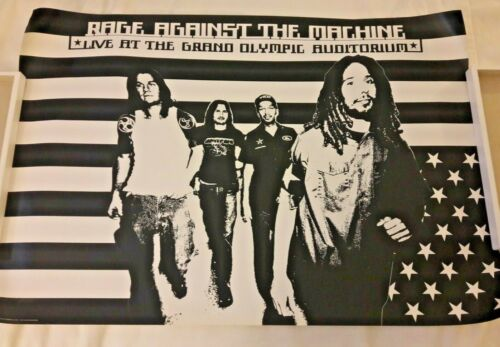 Rage Against The Machine - Live At The Grand Olympic Auditorium RARE 2003 Poster