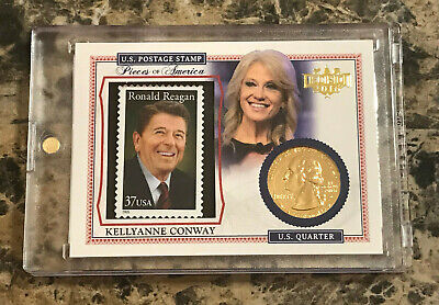 Kellyanne Conway 2016 Decision Pieces Of America #PA59 GOLD QUARTER Reagan Stamp