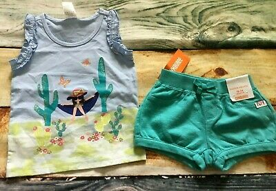 Gymboree 18-24 Cactus Cutie Girl Hammock Butterfly Top Bubble Shorts Outlet NWT