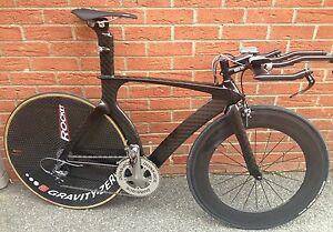 Carbon-fibre-tt-time-trial-triathlon-ironman-bike-54cm