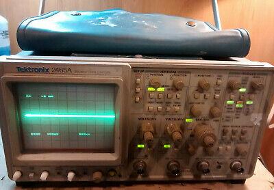 Tektronix 2465a 350mhz Analog Oscilloscope 4 Channel - Fast Shipping
